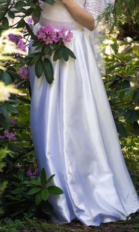 Свадебная нарядная шелковая юбка в пол