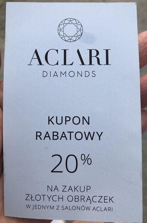 Aclari diamonds kupon rabatowy -20% obrączki