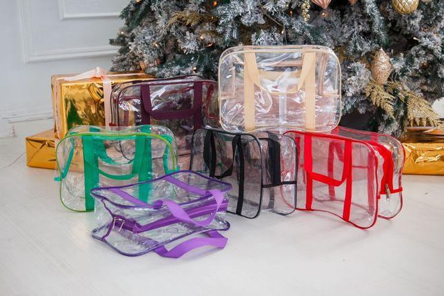 Прозрачные сумки в роддом ПВХ