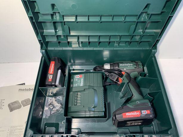 Аккумуляторный шуруповерт Metabo BS 18 L + 2 акк 18 V 2.0 Ah + ЗУ + ке