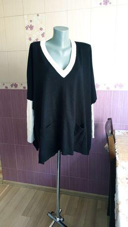 Кашемировый необычный батальный безразмерный свитер marimekko оригинал