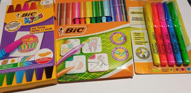 BIC шестигранная масляная пастель, масляні крейди