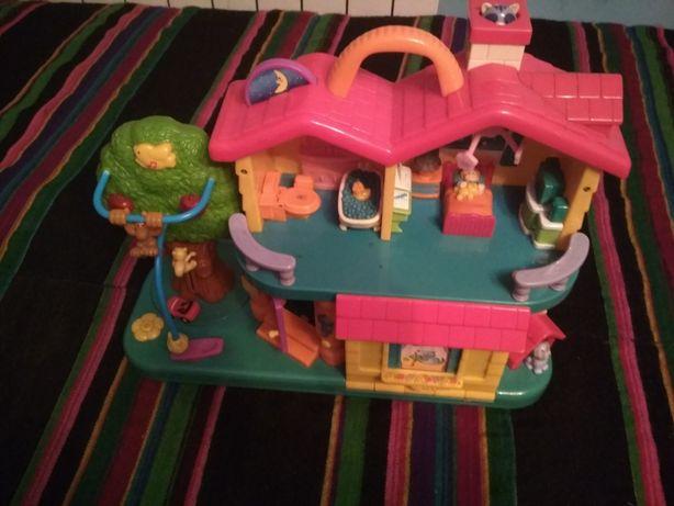 Domek zabawka interaktywna piosenki dużo funkcji piętrowy dzieci zabaw
