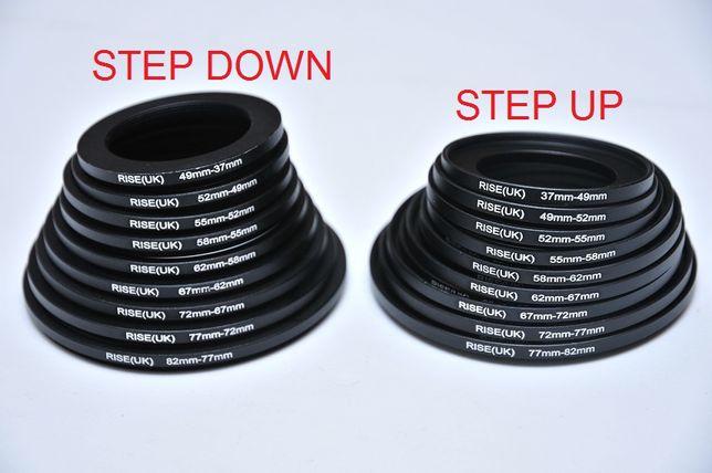 Переходное кольцо Step Up Down 37/49/52/55/58/62/67/72/77/82 мм