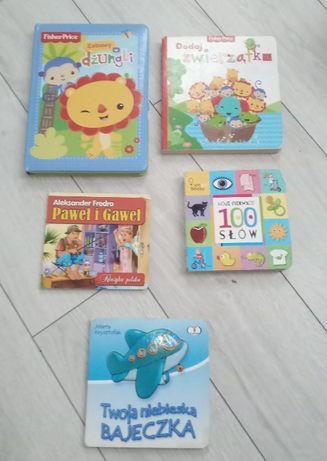 Książki: Moje pierwsze 100 słów, zabawy w dżungli, Paweł i Gaweł
