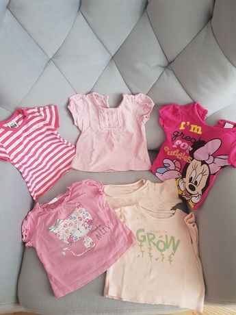 Zestaw bluzeczki bluzki niemowlę dziewczynka