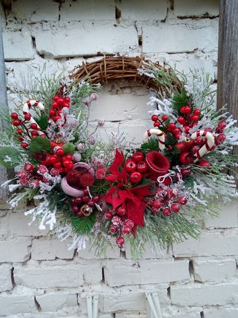 Новогодний венок новорічний вінок рождественский венок різдвяний венок