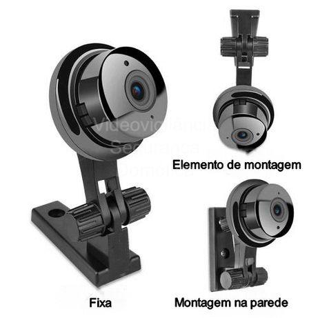 Câmara videovigilância*Infravermelhos*Microfone*Coluna de som*MicroSD