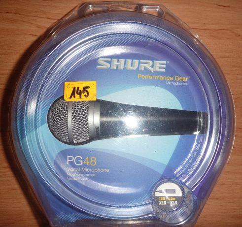 mikrofon shure PG48, stan jak ze sklepu