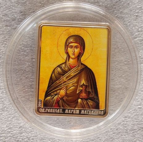 Монеты серебро Святые Мария Магдалина, Елена, Анна, Екатерина
