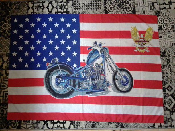 Флаг, баннер Harley-Davidson. Оригинал.