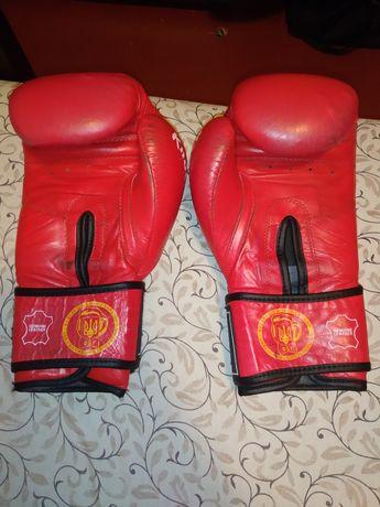 """Кожаные боксерские перчатки """" GREEN HILL"""""""