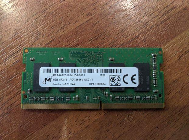 Оперативная память для ноутбука SO-DIMM DDR4. Micron 2X4GB