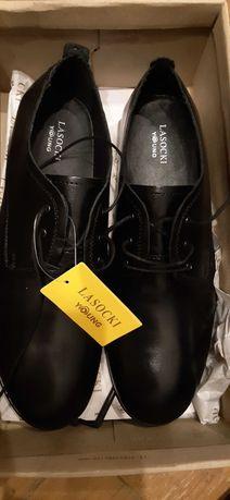 Lasocki 39 nowe czarne eleganckie