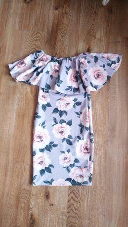 New look sukienka hiszpanka falbanka kwiaty dopasowana floral