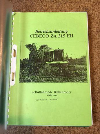Instrukcja obsługi w j. polskim kombajnu do buraków CEBECO typ ZA215EH