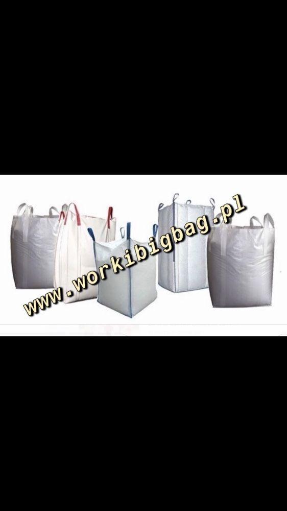 Worki Big Bag Bagi NOWE 90x90x100 Płaskie Dno Największy Wybór BIGBAG