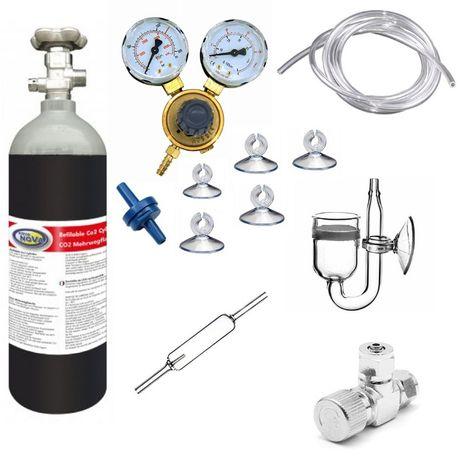 ZESTAW CO2 BUTLA 1,5kg/2,1l manometr dyfuzor licznik zaworek akwarium