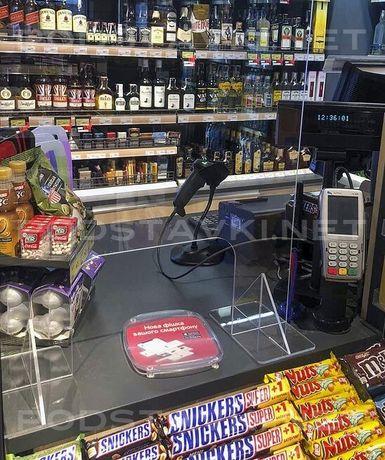 Защитные экраны, барьеры для кассы АЗС, супермаркетов, аптек, магазин