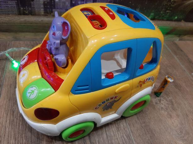 Автошка, сортер, интерактивная машинка, їздить та озвучена
