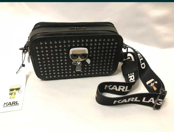 karl lagerfeld torba kuferek damski czarna