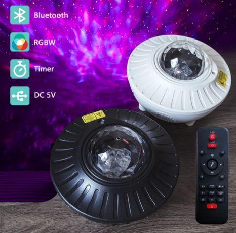 Projektor gwiazd głośnik Bluetooth. Śliczny efekt w twoim domu.