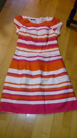 sukienka midori 40 L w paski kolorowe na lato i wiosne