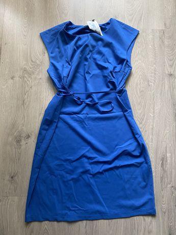 Платье для беременных летнее синее to be