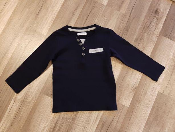 Bluzka 92 98 Reserved elegancka świąteczna granatowa chłopięca