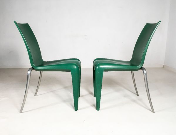 Vitra krzesła Louis 20 proj Philippe Starck lata 90 vintage design