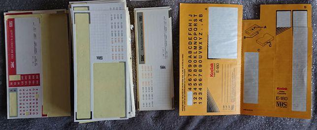 Наклейки видеокассеты VHS видео кассеты стикеры цифры буквы самоклейки