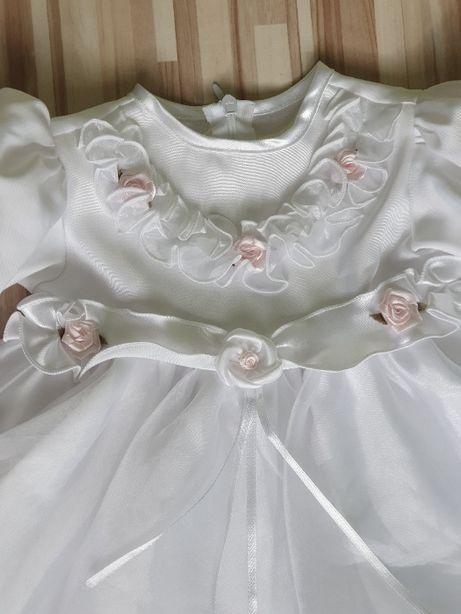 Sukienka księżniczka ze spodniami i bucikami na chrzest, imprezę