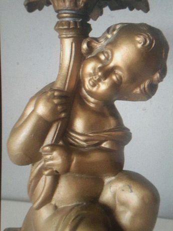 Piękna Duża Figura Putto Amor