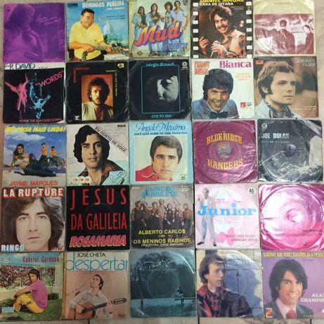 Discos Vinil dos anos 70 e 80 - Lote de 25 Discos
