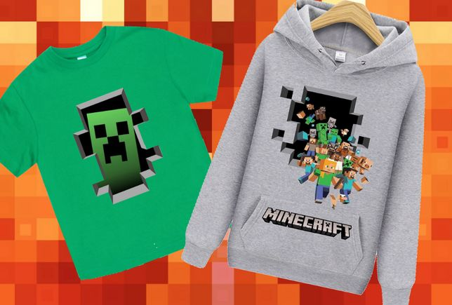 Minecraft Майнкрафт Худи Толстовка Футболка Шапка Рюкзак