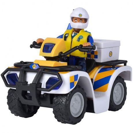 NOWY SIMBA Strażak Sam Quad Policyjny z Figurką Malcolma