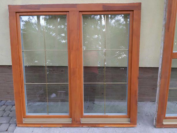 Okno drewniane ze szprosami