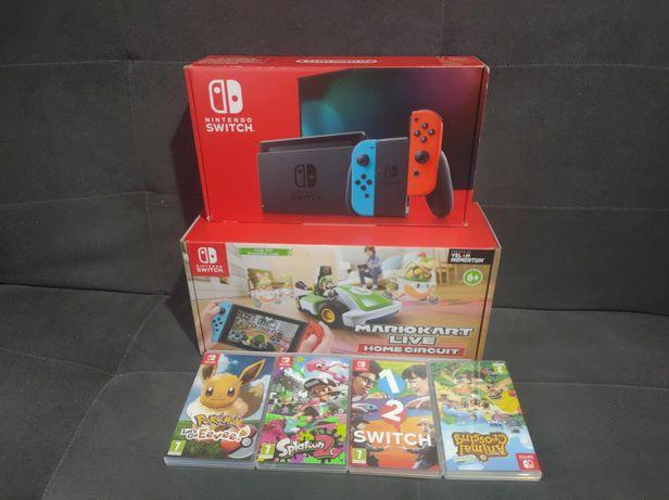 Nintendo Switch V2 /Super Mega Zestaw/Super HITY GRY