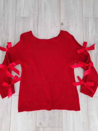 Sweterek czerwony r M
