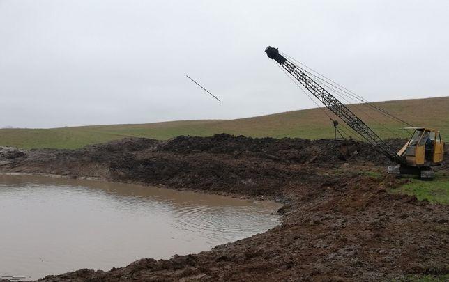 Usługi koparką linową WĘDKA KM 251 kopanie stawów,zbiorników wodnych
