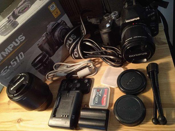 Máquina fotográfica Olympus E-510 como nova com muitos acessórios