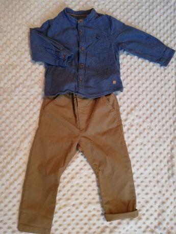 Komplet spodnie next koszula zara elegancki chłopiec