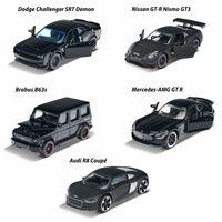Majorette Zestaw Black Edition 5 samochodów metalowych czarnych