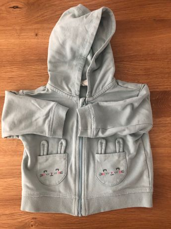 Bluza H&M turkusowa króliczki r. 68