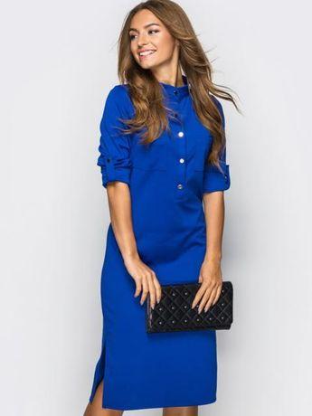 Стильна сукня синя