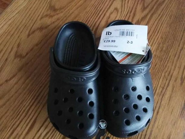 Czarne Crocs 34/35