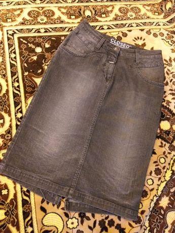 Юбка джинсовая миди, Италия