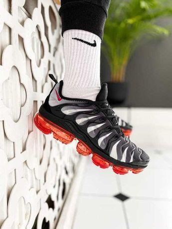 Мужские Кроссовки Nike VaporMax Plus Black Red(ААА+) 40-41-42-43-44-45
