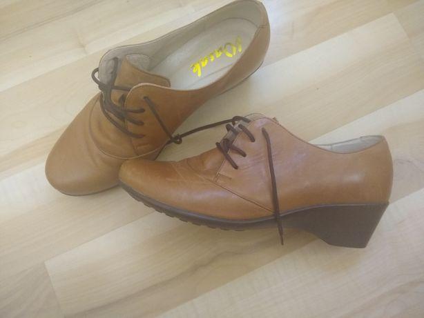 Skórzane buty damskie, rozmiar 38.nowe