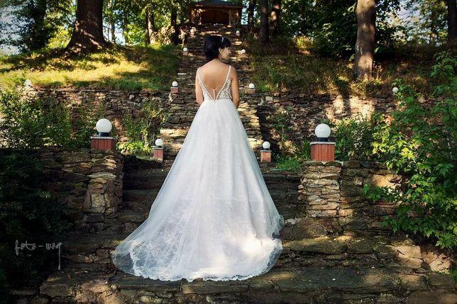 Przepiękna suknia ślubna - Księżniczka rozmiar 36-38
